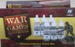 VAL70154 WWII Wargames - Germany Infantry Paint Set (x6)